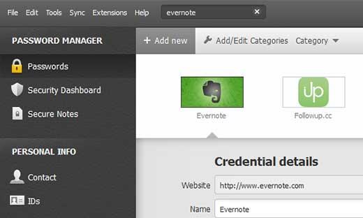 نرم افزار dashlane مدیریت رمز عبور سایت وردپرسی و دیگر سایت هایتان