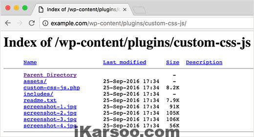 افزایش امنیت وردپرس با غیرفعال کردن Directory Indexing