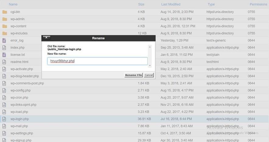 تغییر نام wp-login برای مخفی کردن ادرس صفحه ورود وردپرس