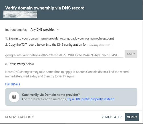 ثبت سایت در گوگل سرج کنسول