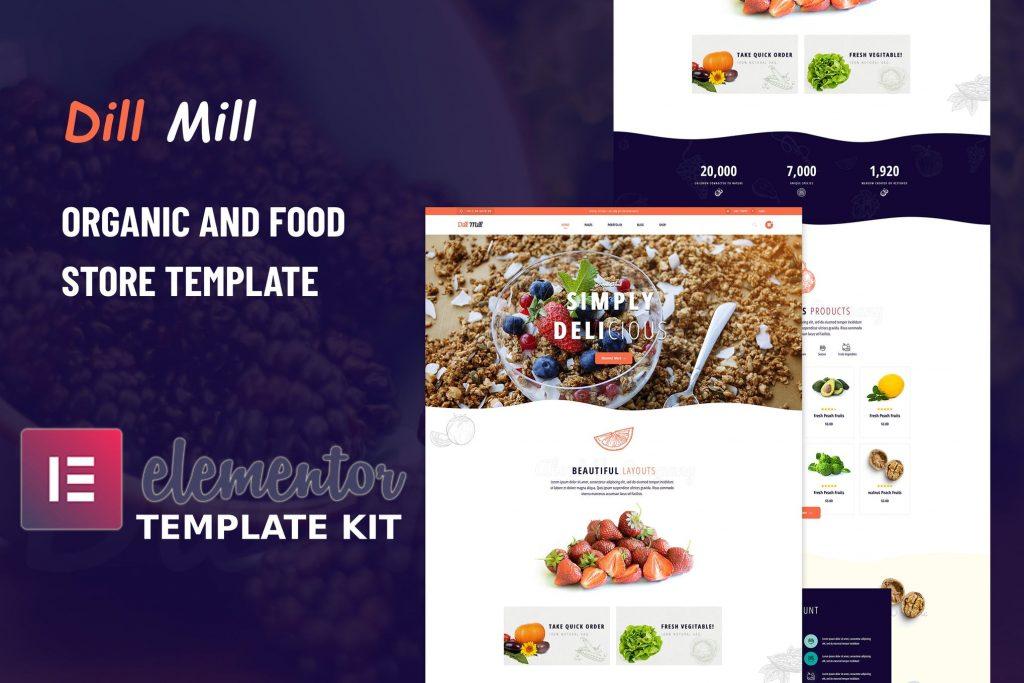 قالب آماده المنتوری فروش غذا-Dillmill_Cover_Image_Kit