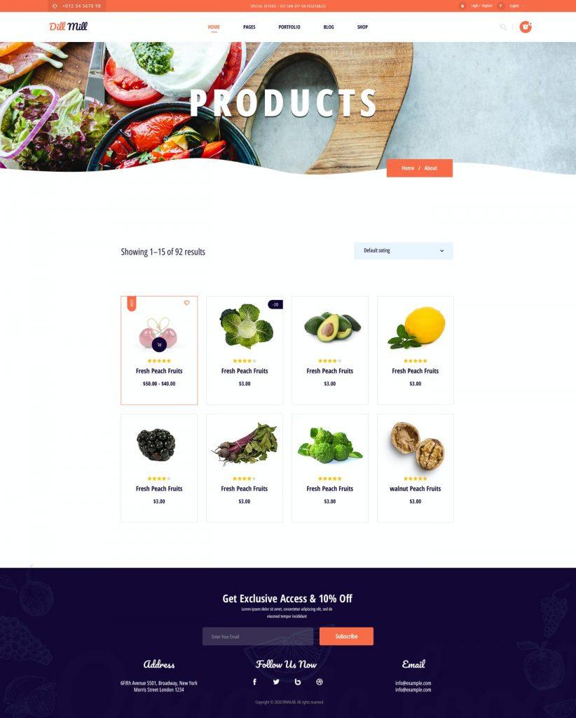 کیت آماده المنتوری فروش غذا--04_Dillmill-Products